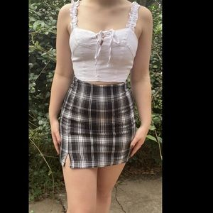 Plaid Brandy Melville Cara skirt